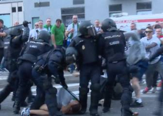 Serious disturbances outside the Bernabéu