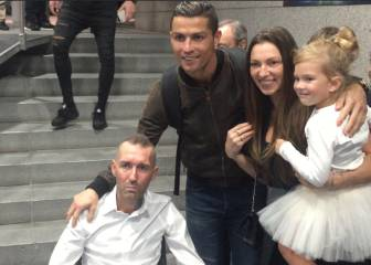 Fernando Ricksen at Real win as guest of Cristiano Ronaldo