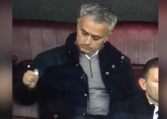Mourinho cuts a folorn figure after being sent to the stands