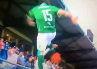 Player kicks fan in shocking scenes from Chile