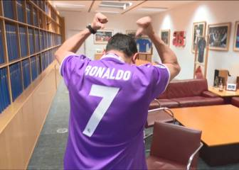 Watch Madrid fan Roncero as Cristiano scores derby hat-trick