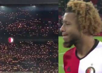 Touching tribute from Feyenoord fans for bereaved Vilhena