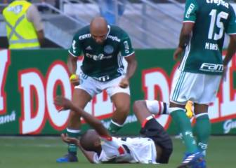 Felipe Melo gives opponent earful after failed flick attempt