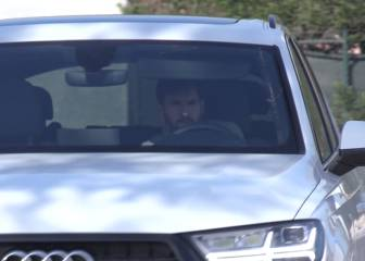 Long faces as Barcelona players arrive for training