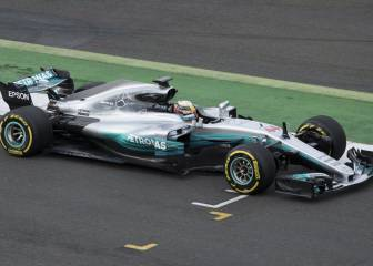 Mercedes' new car in action
