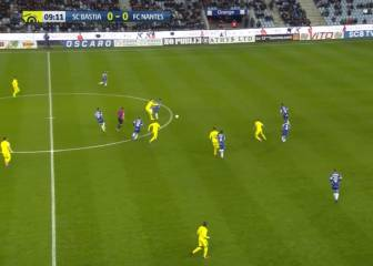Djiku's horror challenge earns Bastia defender straight red