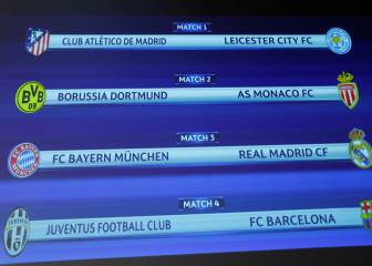Bayern-Real Madrid, Atlético-Leicester y Juventus-Barça