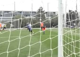 Enzo Zidane impresses Dad with acrobatic overhead kick