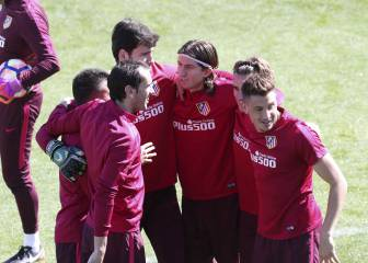 All smiles in training as Atlético prepare for Madrid derby