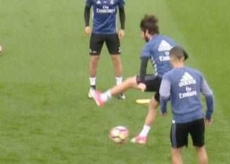 Isco: not one, not two, but three backheels in Real training drill