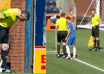 Lino vomits during SPL game, and referee sends him off!