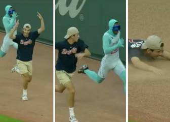 Braves fan celebrates early, bites dust in race against Freeze