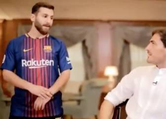 Casillas y el doble de Messi hablando 'spanglish'... Surreal es poco