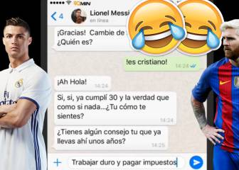 Los Whatsapps de Cristiano a Messi que arrasan en Youtube