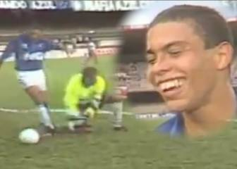 When teenage Ronaldo scored most comical goal of career