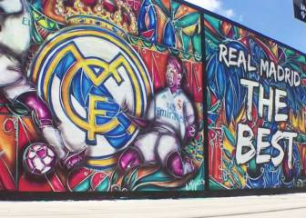 En Miami tenían preparado mural dedicado a James y Real Madrid