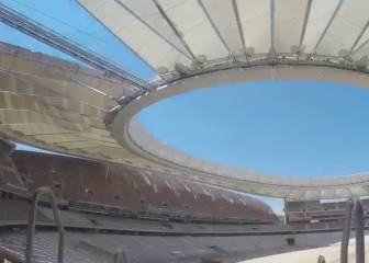 Wanda Metropolitano: Time-lapse shows stadium taking shape