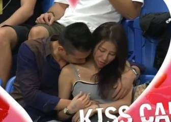 'Kiss Cam' embarrasses couple by catching them mid-canoodle
