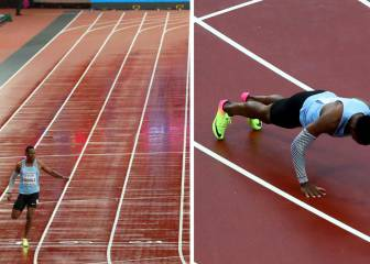 Makwala runs 200m alone, reaches semis, does press-ups