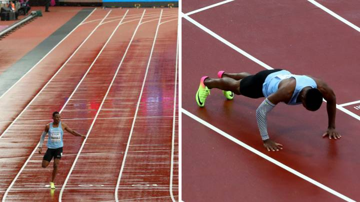 Makwala runs alone, reaches 200m semi-finals, does press-ups
