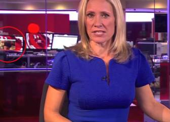 Adult movie plays in background as BBC anchor reads news