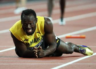 Usain Bolt pulls up injured in last competitive race
