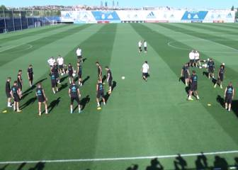 Real Madrid's final training session before El Clásico