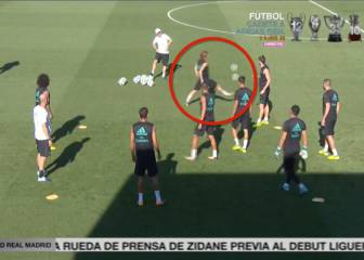 Marcelo can only applaud Modric's perfect control