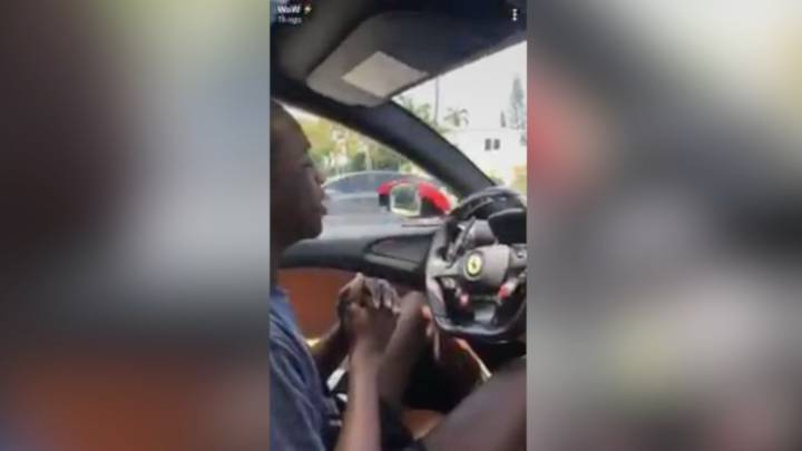 Dwyane Wade: NBA star teaches his son to drive in his Ferrari