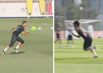 Real Madrid stars show off pace and finishing in training