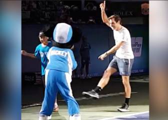 Dad-dancing Federer gets down with Mickey Mouse in Shanghai