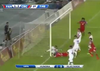 Scandalous refereeing decision allows Panama's first 'goal'