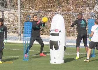 Keylor Navas back training as normal and ready for Spurs