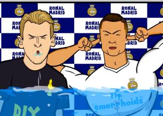 Kane and Cristiano centre stage for Madrid-Spurs parody