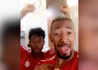 Boateng and Alaba celebrate Bayern Munich win by dancing to beats of Michael Jackson