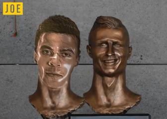 Dele Alli knocks Cristiano Ronaldo off bust perch in viral video
