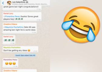 Real Madrid's WhatsApp group chat after Spurs defeat