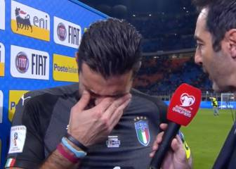 Buffon breaks down in tears after World Cup failure