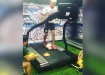 Treadmill, cones, ball: NY Red Bulls' innovative training drill