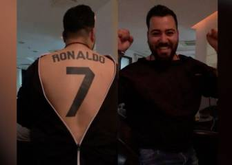 Cristiano Ronaldo super-fan shows his shirt-number tattoo