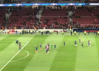 Atleti salute fans who stayed behind cheering after Roma win