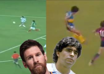 Maradona and Messi - two geniuses, 5 identical goals