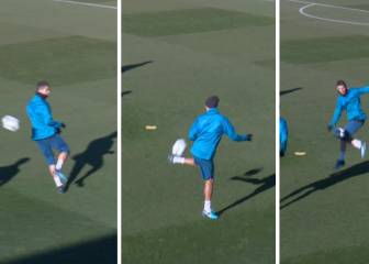Cristiano, Varane turn 'rondo' into keepie-uppie contest