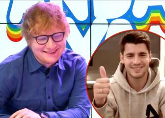 Alvaro Morata serenades Ed Sheeran singing
