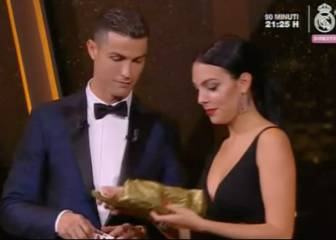 CR7 picks up Ballon d'Or - and a gift for him and Georgina...