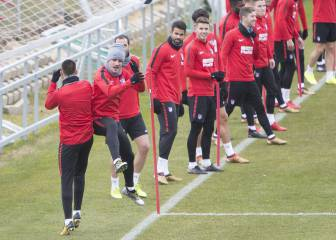 Atlético Madrid train for final time before Alavés clash