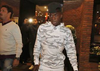 Vinicius Junior dines at De María on his first night in Madrid