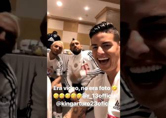 ¿Foto o video? La broma de James a Vidal y Rafinha