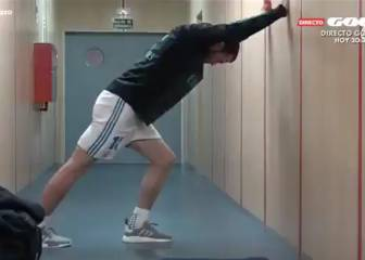Gareth Bale's extensive pre-warm-up routine