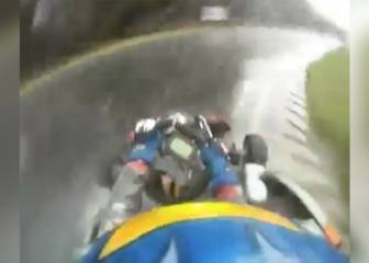 Fernando Alonso shows natural talent on rain-soaked karting circuit